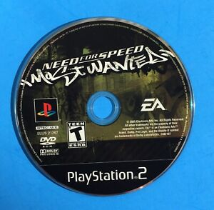 NEED-FOR-SPEED-MOST-WANTED-Playstation-2-PS2-BLACK-Label-Game-Disc-GENERIC-CASE