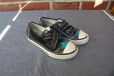 Textil-Sommerschuhe Freizeitschuhe Hallenschuhe schwarz-blau-türkis Gr.29