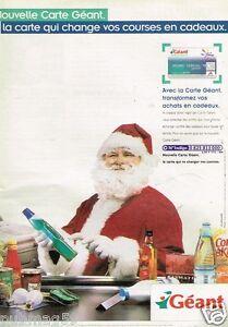 Publicité advertising 2002 Les Supermarchés Géant