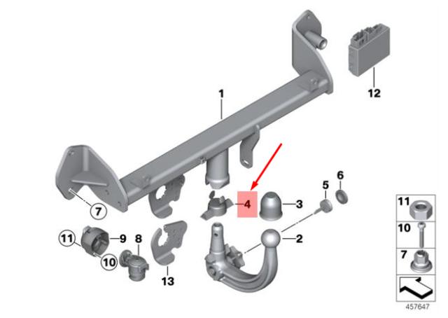 BMW 3 E46 Versiegelung Blind Stecker D=18MM 71601094998 Neu Original