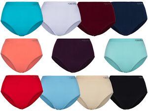 2-Damen-Microfaser-Slip-von-SOUNON-10-verschiedene-Farben-Gr-S-bis-3XL