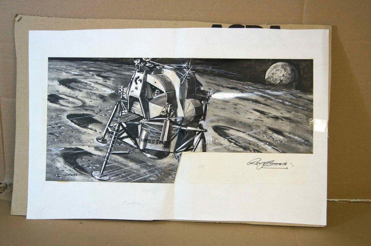 grandes ahorros Airfix Nasa Lunar Módulo Original Roy Cruzada Obra Obra Obra de Arte  comprar descuentos