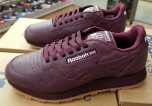 6e0db1b55b6c3 Image is loading REEBOK-CLASSIC-LEATHER-GUM-BS5450-MAROON-GUM-MEN-