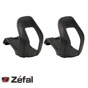 Zefal-Bicycle-Half-Toe-Clips-45-Black-Strapless-Mountain-Bike-L-XL
