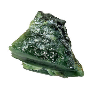 Awesome-157-00Ct-Natural-Rough-Shaped-100-Real-amp-Pure-Green-Serpentine-CH-6901
