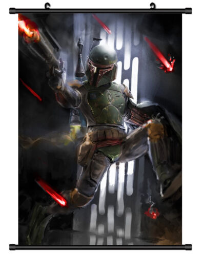 5292 Star wars Bobba Fett Decor Poster Wall Scroll cosplay