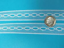 """French Heirloom Cotton Lace Beading 5/8"""" Wide/White Fashion/Craft/Doll Lace 6208"""