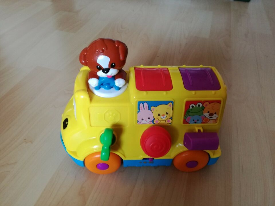 Aktivitetslegetøj, Fisher Price. Bus med pop op figurer, 6