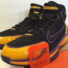 Nike Air Zoom Huarache 2k4 VIVO Foundation sz 12 PROMO Sample PE Lakers Kobe iv