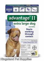 Advantage II Extra Large Dogs (Over 55 lbs, 6 Month Supply) USA EPA APPROVED