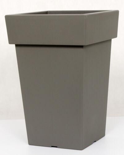 New Flower Pot Plastic 4 Colours Lofly Slim Square Anthracite