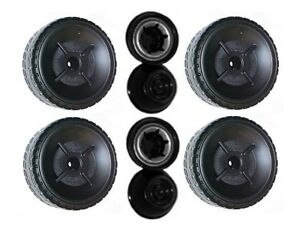Power Wheels P8812 Barbie Mustang Replacement Left & Right Wheels- 4 Pack