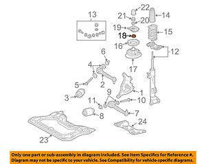MERCEDES OEM 03-06 CLK500 Front Suspension-Mount Nut 0009900365