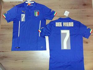FW14 PUMA XL HOME ITALIA 7 DEL PIERO MAGLIA BL.R MAGLIETTA MONDIALI SHIRT JERSEY