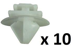 10x Citroen / Peugeot Exterior Door Trim Bumpstrip / Rub Strip Moulding Clips