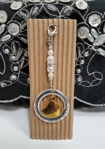 Memory Clip On Charm Bouquet Mum // Dad Bridal Wedding Heart Gift Keepsake