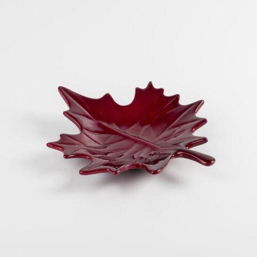 Decorazione Ceramica-foglio piccolo Bordeaux LxAxP 9 x 4 x 22 cm nuovo keramikdekoaration