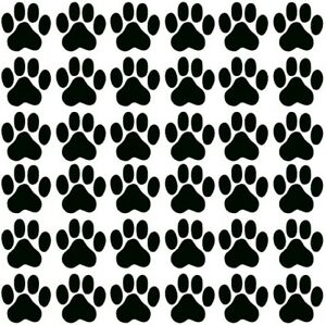 Katzen-Hunde-Pfoten-Kitty-36-Aufkleber-Sticker-jeder-3X3cm