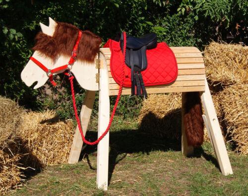 Holzpferd,Voltigierpferd,Pferd bew Kopf ca.115-117cm mit Zubehör