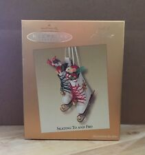 Hallmark Ornament 2003 Skating to and Fro Mouse QXC3002 MIB