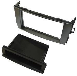 Adaptateur-autoradio-facade-cadre-reducteur-anthracite-1-2DIN-pour-Toyota-Auris
