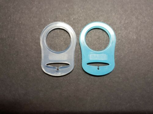2 X MAM NUK Baby Pacifier Style Dummy Adaptors Ring Clip Soother Two Pack