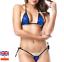 Sexy-Micro-Bikini-Shiny-Pattern-Women-Brazilian-G-StringThong-Swimwear-Swimsuit miniatura 10
