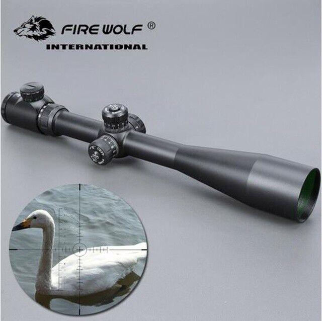 Alcance de 10-40x50 de caza largo alcance Riflescope Mira Rifle con montajes
