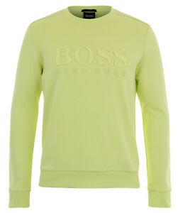 Crew-neck logo sweatshirt in a cotton blend BOSS Free Shipping Deals Cheap Sale 2018 Unisex Cheap Pay With Paypal Discount Excellent Genuine NLfoAtsy