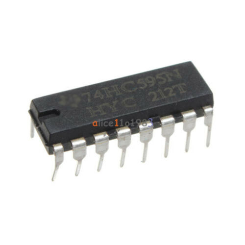 50pcs 2.0 ~ 6.0 V Haut SN74HC595N 74HC595 8-Bit Shift Register DIP-16 IC