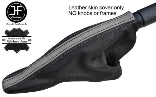BLACK /& GREY TOP GRAIN LEATHER HANDBRAKE GAITER FOR BMW MINI R50 R52 R53 01-06