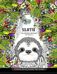 Sloth-coloring-book-for-adults-Animal-Coloring-Books-for-Adults