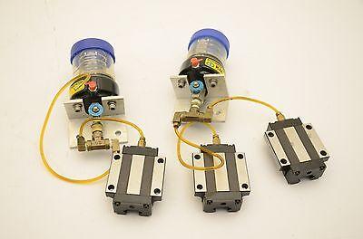 SBG-25FL Linear Motion Blocks, Greasecup Automatic Lubricator, 3 Blocks