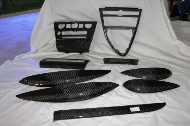 BMW Interior Trim 2004-2010 E63 E64 645 650 M6 9 Pieces Carbon Fiber $400 Refund