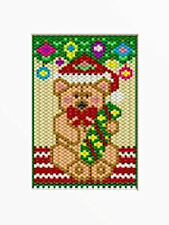 TEDDY UNDER THE CHRISTMAS TREE BEADED BANNER PATTERN