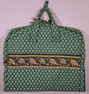 1b671efbbd Image is loading VERA-BRADLEY-QUILTED-GARMENT-BAG-TRAVEL-RETIRED-GREENFIELD-