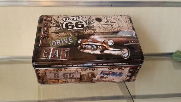 Ordinato Contenitore Il Metallo Motore Route 66 Vintage