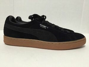 on sale 18660 f41ad Details about Puma Suede Black Gum Bottom Classic Retro Sneakers Mens  362551-03