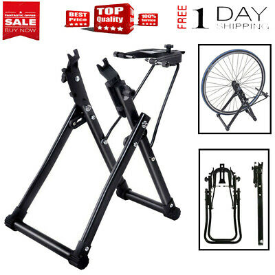 """Foldable Intelligent Maintenance Fits 16/"""" 29/"""" 700C Bicycle Wheel Truing Stand"""