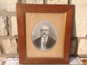 AgréAble Beau Grand Cadre Bois Stype Empire, Époque 1900, Ovale / Portrait Notable