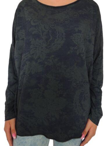 Damen langarm Pullover Größe 44 46 48 50 Übergröße Sweatshirt Sweater Size