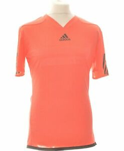 T-shirt Manches Courtes Adidas Taille 38 - T2 - M Rouge Homme