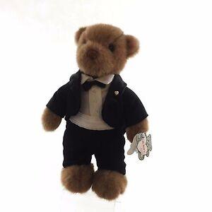 groom teddy bear in tux Gund Collectors Classic VINTAGE 1990 Groom Wedding Bear