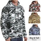 Big Men's Pullover Hoodie Camo Print by Port & Company 3XL 4XL