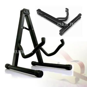 Folding Guitar Stand Electric Acoustic Bass Floor Rack Holder Fast