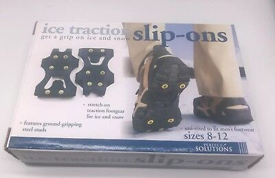 Perfect Solutions PS2545BK Ice Traction Slip-ons