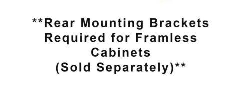 6 Pair Full//Ex Ball Bearing Zinc Soft Close Drawer Slide Undermount Rear Bracket