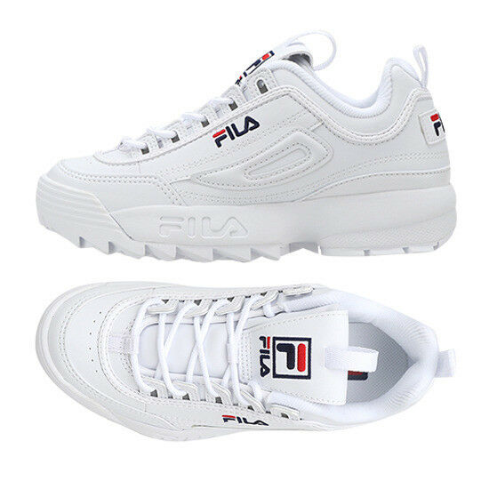 New FILA Disruptor II 2 Unisex Sneakers Athletic Schuhes - WEISS(FS1HTA1071X)