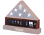 Medal Display Case Veteran Memorial Case Accessory For Burial Flag Cherry Finish