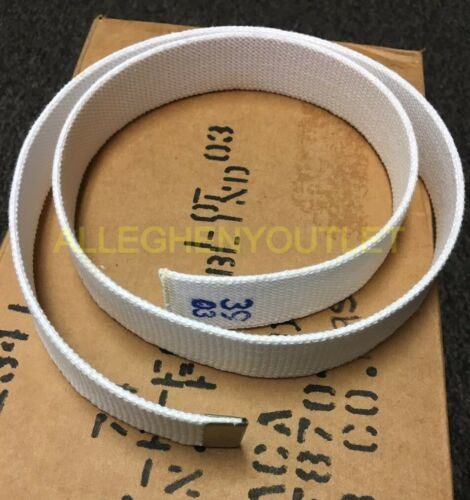 """Lot of 110 Replacement Military Canvas Web Belts 1.5/"""" Wide X 39/"""" Long WHITE NIB"""